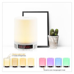 $enCountryForm.capitalKeyWord NZ - Romantic Lighting Bluetooth Speaker with Bedroom Table Lamp Touch-Sensitive Control Panel Support TF Card phone Hand-free Calls High Quality