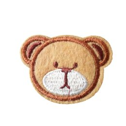 Embroidered cloth patch bear head appliques Back gum Ironing sewing  decorative patch kids cap T-shirt jeans clothing accessories DL CPIA029 2c0036a7f031