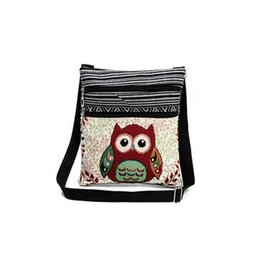 Small drawString linen bag online shopping - 2017 new arrival fashion women messenger bag lovely crossbody embroidery national style handbags with high quality