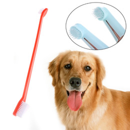 $enCountryForm.capitalKeyWord Australia - 3pcs set Double Head Soft Pet Finger Toothbrush Dog Cat Puppy Teeth Care Cleaning Brush Pets Grooming Tools Supplies