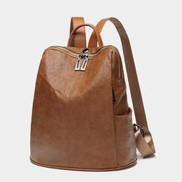 Women Backpacks Genuine Leather Female Rucksack 2018 New Large Capacity  Travel Preppy Style Black Women Bag Laptop Knapsack C747 374ca4263