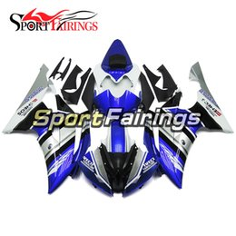 Complete Fairing Kits Yamaha Australia - Blue White Complete Motorcycles Fairing Kit For Yamaha YZF600 R6 YZF-R6 2008 - 2016 12 13 14 15 Injection ABS Plastic Motorcycle Body Kit