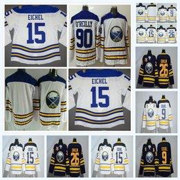 2018 Buffalo Sabres 15 9 Jack Eichel Rasmus Ristolainen Sam Reinhart Ryan 26  Rasmus Dahlin O Reilly Winter Classic Hockey Jerseys Blue White eedd3a175