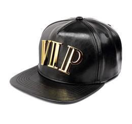 dj hat 2019 - PU Leather Hip Hop Hats Golden VIP Logo DJ Baseball Caps Men Women Hiphop Hats Black Snapback Caps Sports Casquette Belt
