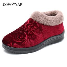 88356750b77 wholesale Retro Women Boots 2018 Comfort Fur-lined Ankle Snow Boots  Non-Slip Low Wedge Winter Cotton Shoes Women WBS1053