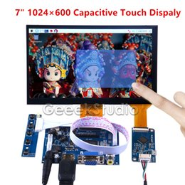 4.7 Capacitive Australia - 7 inch 1024*600 Capacitive Touch Display Screen Monitor for Raspberry Pi Windows Macbook BeagleBone Black Free Driver Plug Play