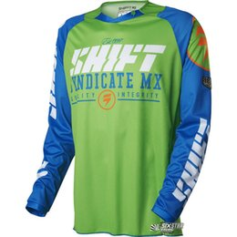 China 2017 shift Cycling men's long sleeve shirt mountain bike motocross mx cycling dh downhill jersey cycling clothing bicycle shirt 001 cheap mx clothes suppliers