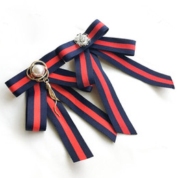 wedding bowties UK - College Style bowtie Wedding Party Polyester Striped bowknot Women's Bow Tie Fashion Neck Wear Ribbon bowties Shirt Accessories