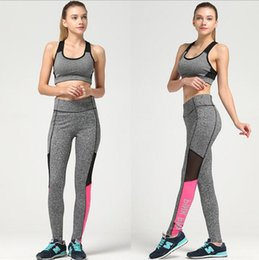 2017 yoga pants women sporting leggings pink print Sexy Yoga Fitness Printing Leisure Sport Leggings Stitching Pants Tights women pant KKA3668