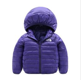 Venta al por mayor de Brand Face North Baby Chaquetas de invierno Light Kids White Duck Down Coat Baby Jacket para niñas niños Parka Prendas de abrigo Sudaderas Puffer Coat