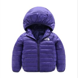 Wholesale brand face north Baby Winter Jackets Light Kids White Duck Down Coat Baby Jacket for Girls Boys Parka Outerwear Hoodies Puffer Coat