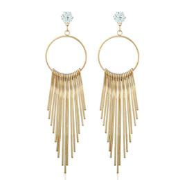 $enCountryForm.capitalKeyWord UK - Gold Drop Earrings for Women Girl Vintage Tibetan Metal Tassels Dangle and Chandelier Earrings Fashion Jewelry Wholesale - 0809WH