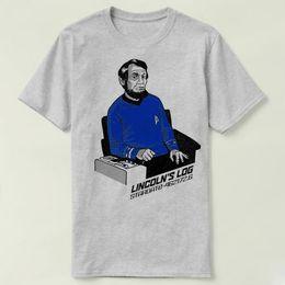 Star Trek Spock Canada - Lincoln log t shirt Star trek spock short sleeve gown Leisure tees Unisex clothing Quality cotton fabric Tshirt
