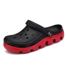 56f2b9a0b5300 Hot Summer Mens Mules Clogs Eva Material Lightly Beach Garden Shoes Man  Slippers Clog Shoe Slipper Men Fashion Color