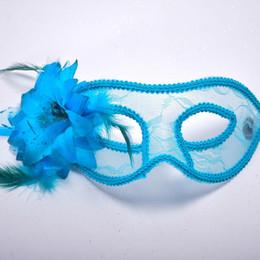 $enCountryForm.capitalKeyWord Australia - 2018 New Lace Half Face Mask Colorful Mask With Flower Girls Women Eyewear Ball Masks Halloween Dance Party Dress Decor