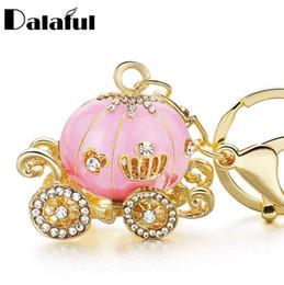 103b7af1419d beijia Pumpkin Carriage Crystal For Hallowmas Fairy Tale Keychain Purse Bag  Buckle HandBag Pendant For Car Keyring Holder K227