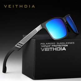 Discount veithdia glasses VEITHDIA Aluminum Magnesium HD Polarized Sunglasses Men Coating Mirror Sun Glasses Driving Male Eyewear Glass Square Ocu