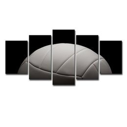 $enCountryForm.capitalKeyWord Australia - Wall Art Pictures Modern Home Decor Living Room HD Prints Photo 5 Pieces Gym Poster Sports Gray Volleyball Canvas Painting