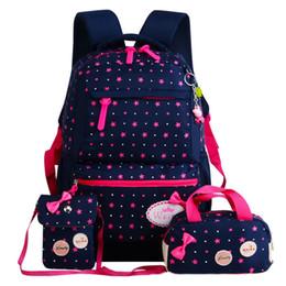 Venta al por mayor de Mochilas escolares para adolescentes Mochila conjunto mujeres hombro bolsas de viaje 3 Unids / Set mochila mochila mochila