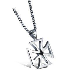 TiTanium crosses online shopping - Korean Fashion Hollow Titanium Steel Men s Cross Necklace Jesus Pendant Titanium Steel Beautifully Jewelry Support FBA Drop Shipping G886F