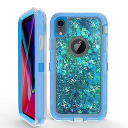 Discount cell phone defender - Glitter Cell Phone Cases Cover For Samsung S7 S8 S9 S7edge Note9 Note8 iPhone 6 6s 7 8Plus iPhoneX XR Fre Defender Case