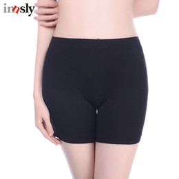 4056f3d76a23c Innsly Safety Short Pants Under Skirts For Women Boyshorts Panties Seamless  Big Size Ladies Safety Boxer Panties Underwear Black