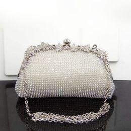 $enCountryForm.capitalKeyWord NZ - Fashion 2018 Diamonds Chain Evening Bag Black Silver Gold Wedding Bags For Bride Women Messenger Party Handbag Elegant Clutches