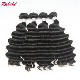 $enCountryForm.capitalKeyWord Australia - 3 or 4 Bundles lot Remy Loose Deep Wave Rabake Peruvian Unprocessed 9A Human Hair Bundles Cuticle Aligned Hair Extensions for Black Women