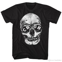 Mais novo 2018 oficialmente licenciado CBGB OMFUG SKELETON tamanhos SM - 5XL em preto Mens T-ShirtPrinted camisetas Streetwear masculino em Promoção