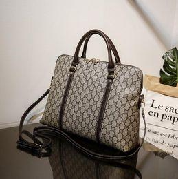 $enCountryForm.capitalKeyWord NZ - Wholesale brand men bag classic printed business handbag fashion professional men and women hand briefcase retro waterproof wear-resistant c