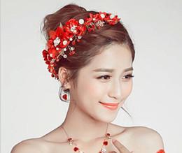 $enCountryForm.capitalKeyWord NZ - Bridal handmade headwear, red flower, wedding dress, accessories, hair accessories