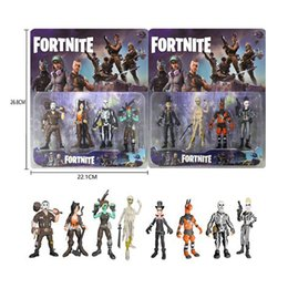 Discount doll decoration games - 3.5 Inch 4pcs set Fortnite Series Dolls Hand-made Fortress Night Doll game fortnite Toy Furniture Decoration Children&#0