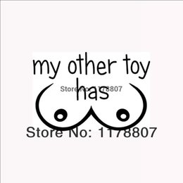 $enCountryForm.capitalKeyWord NZ - HotMeiNi Wholesale 20pcs lot My Other Toy Has Boobs Funny Sticker Car Rear Windshield Truck SUVLaptop Art Wall Etc Vinyl Decal 8 Colors