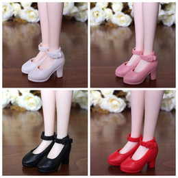 $enCountryForm.capitalKeyWord Australia - 4Pairs High Heel Shoes For Blythe Dolls 1 6 Fashion Shoes For Licca Doll Mini Momoko 1 6 BJD Doll Accessories