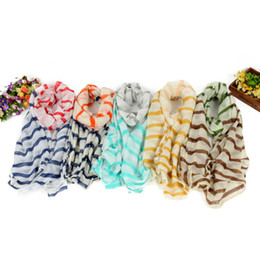 $enCountryForm.capitalKeyWord Australia - New Cotton Square Scarf Women Blue Stripe Geometric Print Thin Silk Scarves Headband Shawl Wrap
