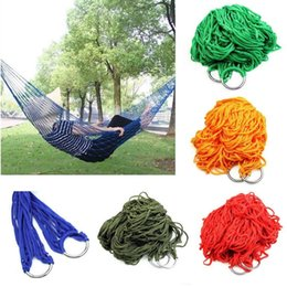 camping swing Australia - Style Mesh Nylon Hammock Hanging Outdoor Garden Swing Sleeping Bed Swing Strong Hammock for Camping   Hiking 500Pcs