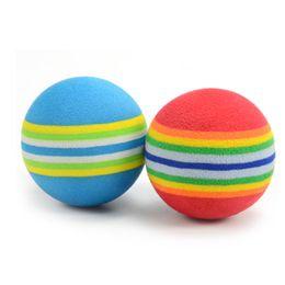 Discount club equipment - 6PCS Professional Golf Balls Colorful Rainbow Kids Beginners Training Golf Ball Practice Ball Club Equipment EVA