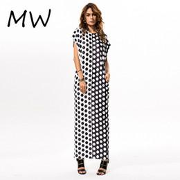 Dot Line Dress Canada - Women's Polka Dot Maxi Long Dress Short Sleeve Floor Length Loose Casual Dress Plus Size