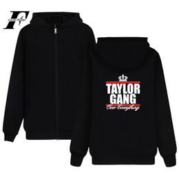6dda759fa Wiz Khalifa Fashion Men's Hooded Sweatshirt Long Sleeve Winter Taylor Gang  Women's Plus Size Hoodie Cardigan Coat with Pocket
