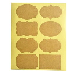 Stationery Australia - Smart (Qty80pcs ) Fancy Kraft Paper Essential Oil Bottle Stickers Labels self-adhesive stationery sticker for bottles decoration