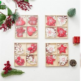 Wholesale NEW DIY accessories Christmas Tree Ornament Children Gift Toddler Door Wall Hanging Preschool Craft Xmas Decoration box T1I944