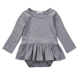 d9d03b0c5d Toddler Newborn Infant Baby Girl Clothes Solid Cotton Bodysuit Dress Romper  Jumpsuit Kids Outfit Lovely Clothing
