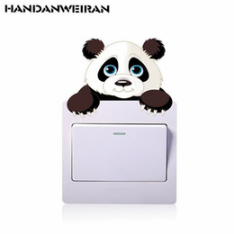 panda bedding NZ - 2018 NEW kawaii animal panda wall stickers 3D switch decorative stickers wall decor decorations for living room bed room