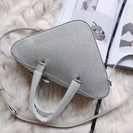 Discount ladies handbags big size - Sliver big triangle brand designer fashion luxury ladies handbag women shoulder bags crossbody size: 31x18cm hot sale fr