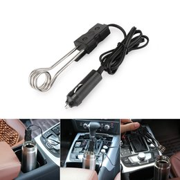 12v heaters for cars 2019 - 2018 hot Car Immersion Heater Mini Portable 12V car Auto Electric water Heater for Tea Coffee Water