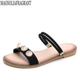 b0084e77db4a90 Fashion Leather Women Sandals Bohemian Summer Slippers Woman Flats Flip  Flops Shoes Beach sandales femme 2018 nouveau w39