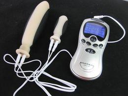 $enCountryForm.capitalKeyWord Australia - Electric Shock Electro Stimulation Silicone Electrode Anal Plug Dildo eStim Mastubation BDSM Bondage Gear Sex Toys