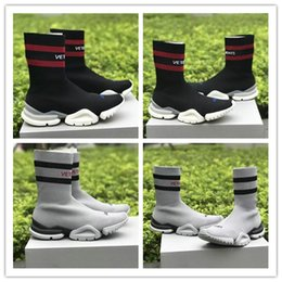 df5f658fb0399 VETEMENTS SS CREW UNISES Sock Trainer Dropping RUNNING Shoes CN3307 Trainer  Casual Shoe Man Woman Socks Stretch Knit Outdoors Casual Boots
