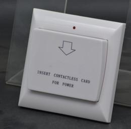 Toptan satış Toptan Max 40A 13.56 Mhz RFID Anahtar Kart Anahtarı Enerji Kontrollü Birim Enerji Tasarrufu Gerilim AC 180 ~ 250 v, 2 Renkler Otel Duvar Anahtarı