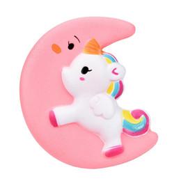 $enCountryForm.capitalKeyWord UK - 100pcs Cute Kawaii Moon Unicorn Squishy Slow Rising Cream Scented Decompression Toys Cartoon Squishies Antistress Toys Squishi For kids K183